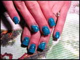 Teal Polish & Glitter