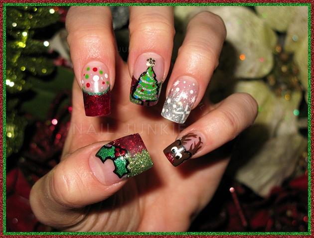 Christmas Handpainted Nails
