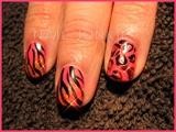 Animal Print On Natural Nails