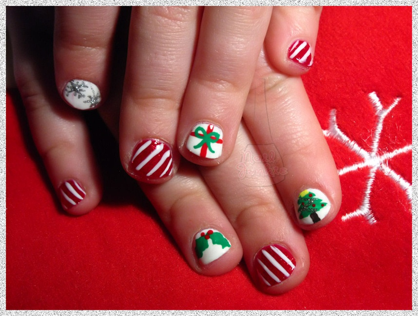Kid Christmas Nails - Nail Art Gallery