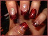 Red Christmas Sculptured Acrylics