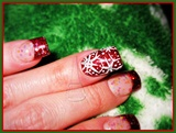 Snowflake Sparkly Nail