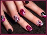 Pink, Black & Silver Animal Print