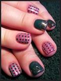 Pink & Grey Polka Dots