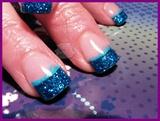 Sculptured Blue Glitter Acrylic