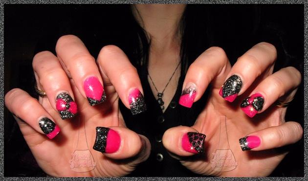 Pink & Black Fancy Bows