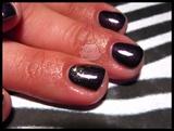 Gel Manicure & Glitter Fade