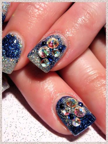 Sparkle nails & Swarovski embellishments
