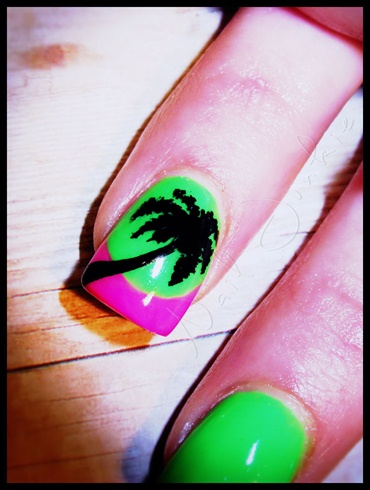 Fluorescent Palms