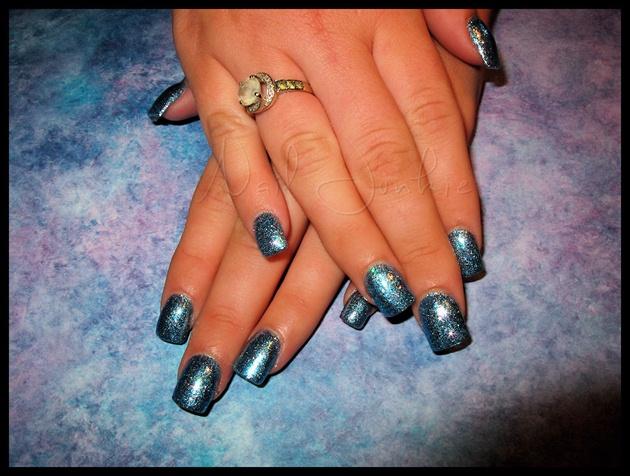 Blue Glitter Bomb!