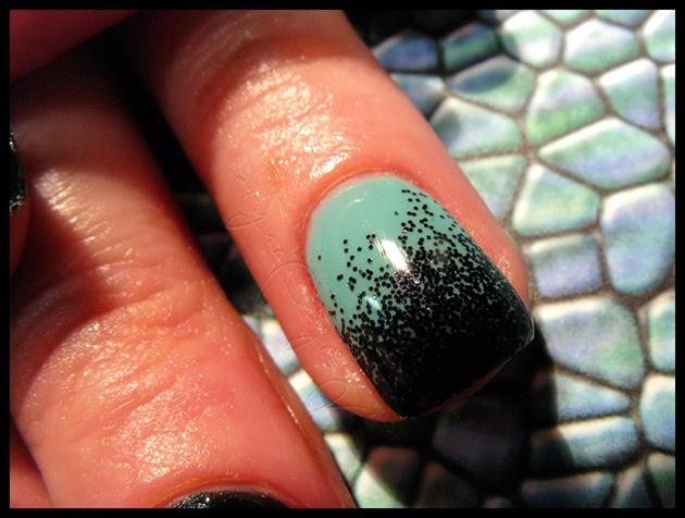 Black Glitter Gel Manicure Nail Art Gallery
