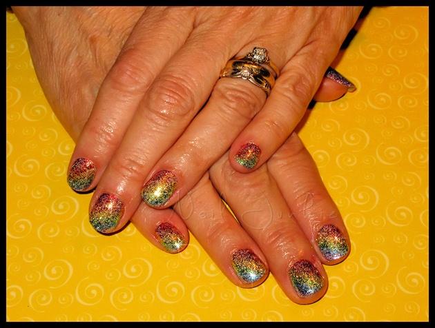 Rainbow Bright Gel Manicure