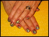 Rainbow Bright Gel Manicure