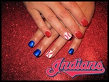 Cleveland Indian Baseball Nails