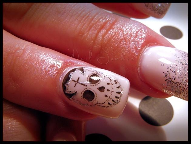 Girly Sugar Skull Art Nail Art Gallery