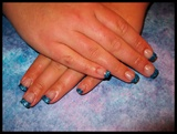 Blue Glitter Acrylic Tips