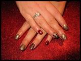 Leopard Glittery Nails