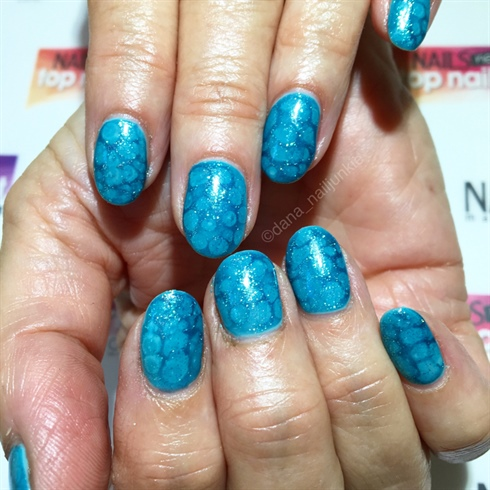 Teal Blue Sea Gel Mani