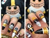 Steeler Game Nails
