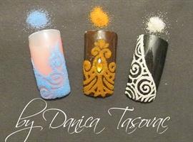 nail art: Velvet sand