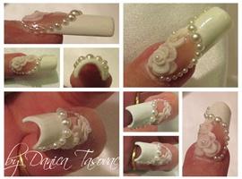 nail art: Bride...