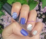 Purple, sparkle and stripes