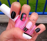 Black, stripes and roses
