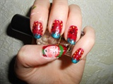 Christmas elf nails