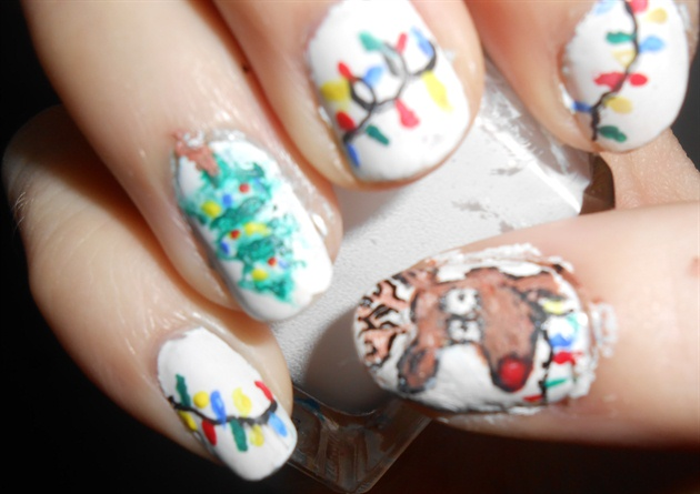Rudolph Christmas Nails