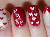 Quick and Easy Valentines Nails