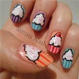 Confetti Cupcake Nail Art