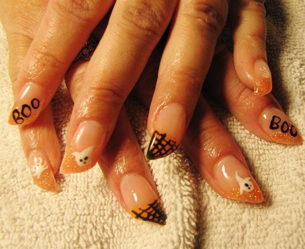 Angled Halloween Nails