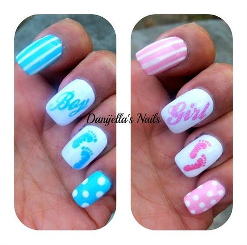 Baby Shower Nails Nail Art Gallery