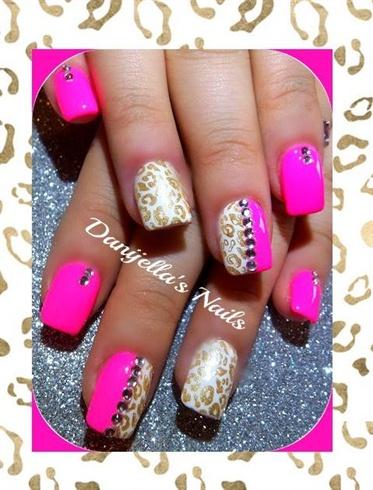 Golden Pink Cheetah