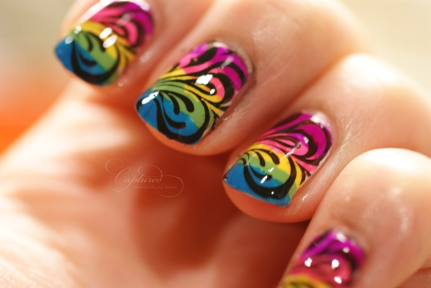 Neon Rainbow Nail Art Gallery