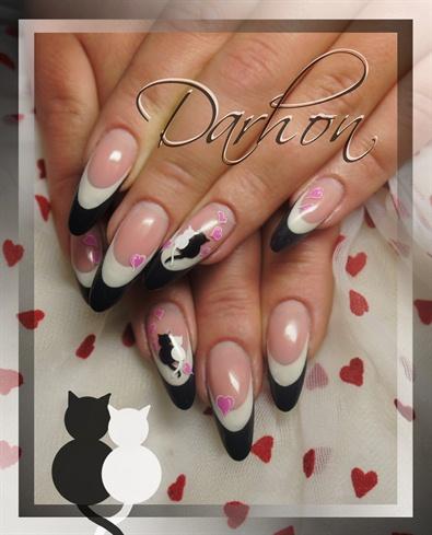 Нарощенные ногти с котами фото