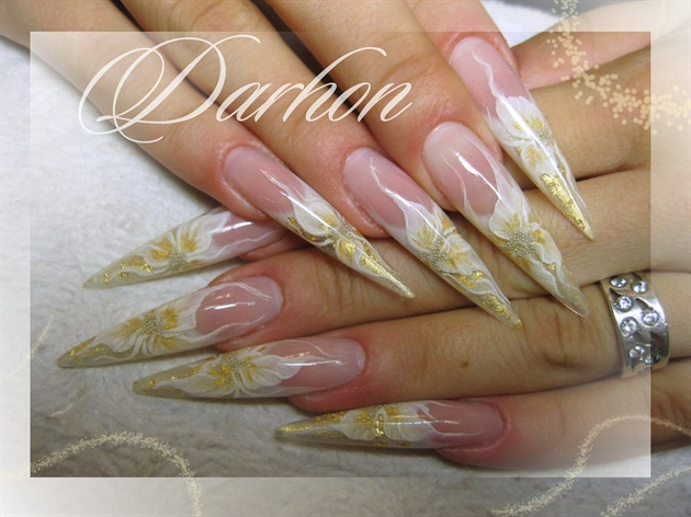 white n gold