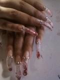 Valentine's Aqua Nails