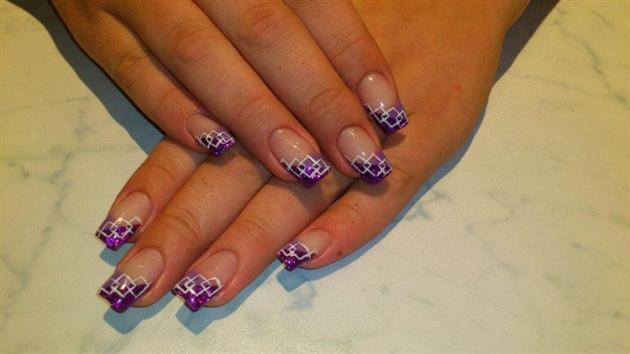 Рисунки на квадратных ногтях с фото