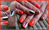 Orange, Black & White