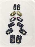 Black Xmas Nails