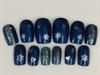 Navy Blue Xmas Nails