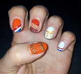 Nail art for Queensday (Netherlands)