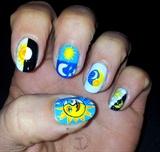 Nail art day and night