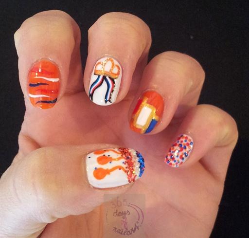 Kingsday nails (Netherlands)