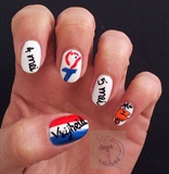 Nail art Dutch Liberation Day (May 5th)