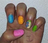 Velvet nails neon
