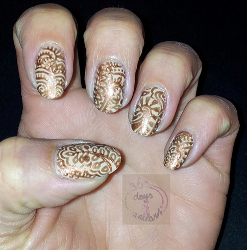 Nail art Henna design - Nail Art Henna Design - Nail Art Gallery