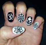 Nail art Buddhism