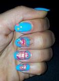 Nail art seahorse